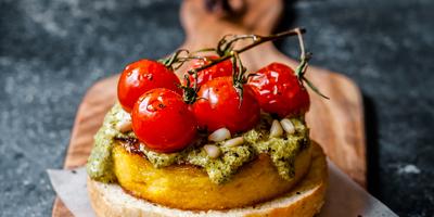 Polenta pronta da affettare Eccellenze crostino di polenta polenta fritta pomodori e patè